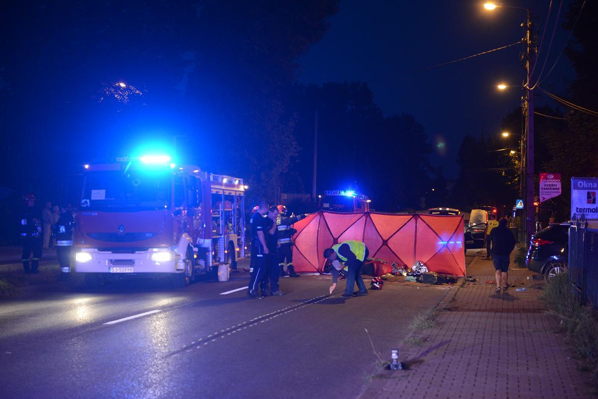 wypadek jaworzno motocyklista