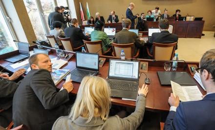 Rani w Jaworznie otrzymali laptopy, Sesja RM 26.11.2015