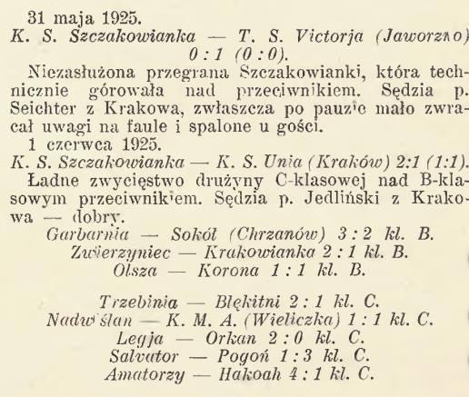 Archiwalny wycinek z gazety poświęcony Victorii i Szczakowiance.