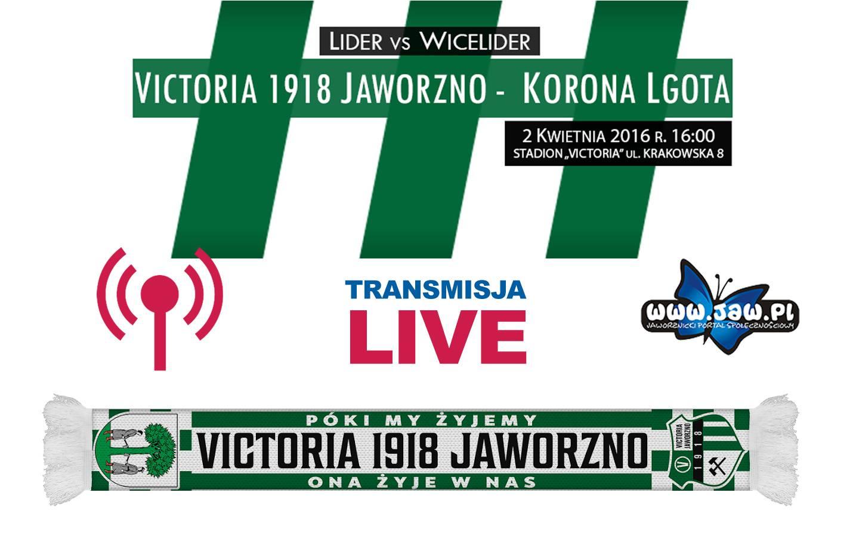 Transmisja na żywo: mecz Victoria 1918 Jaworzno - Korona Lgota.