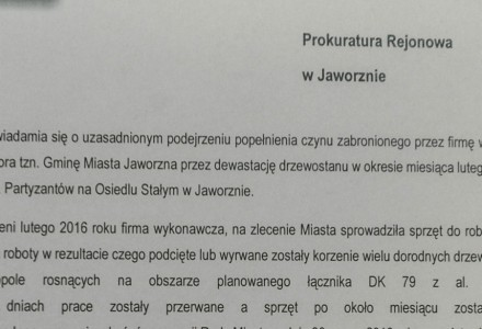 Jaworznickie Forum Mieszkańców złożyło zawiadomienie do prokuratury w sprawie łącznika.