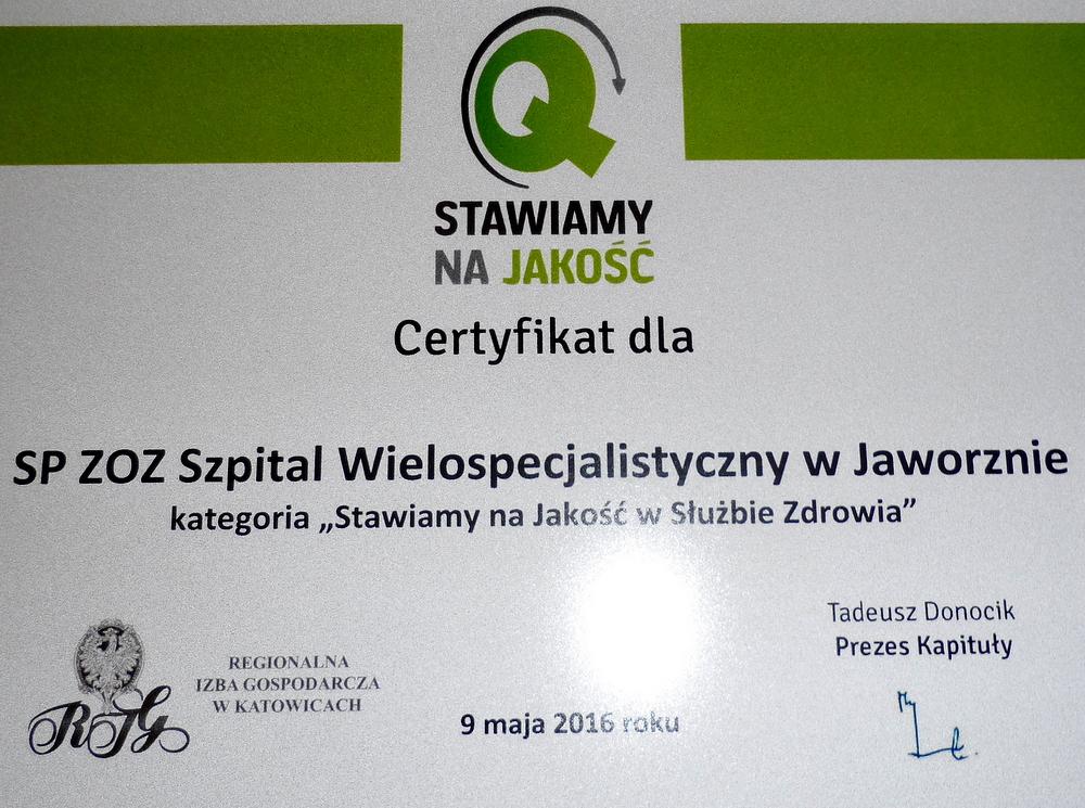 586b8d4026e12b Jaworznicki szpital z certyfikatem
