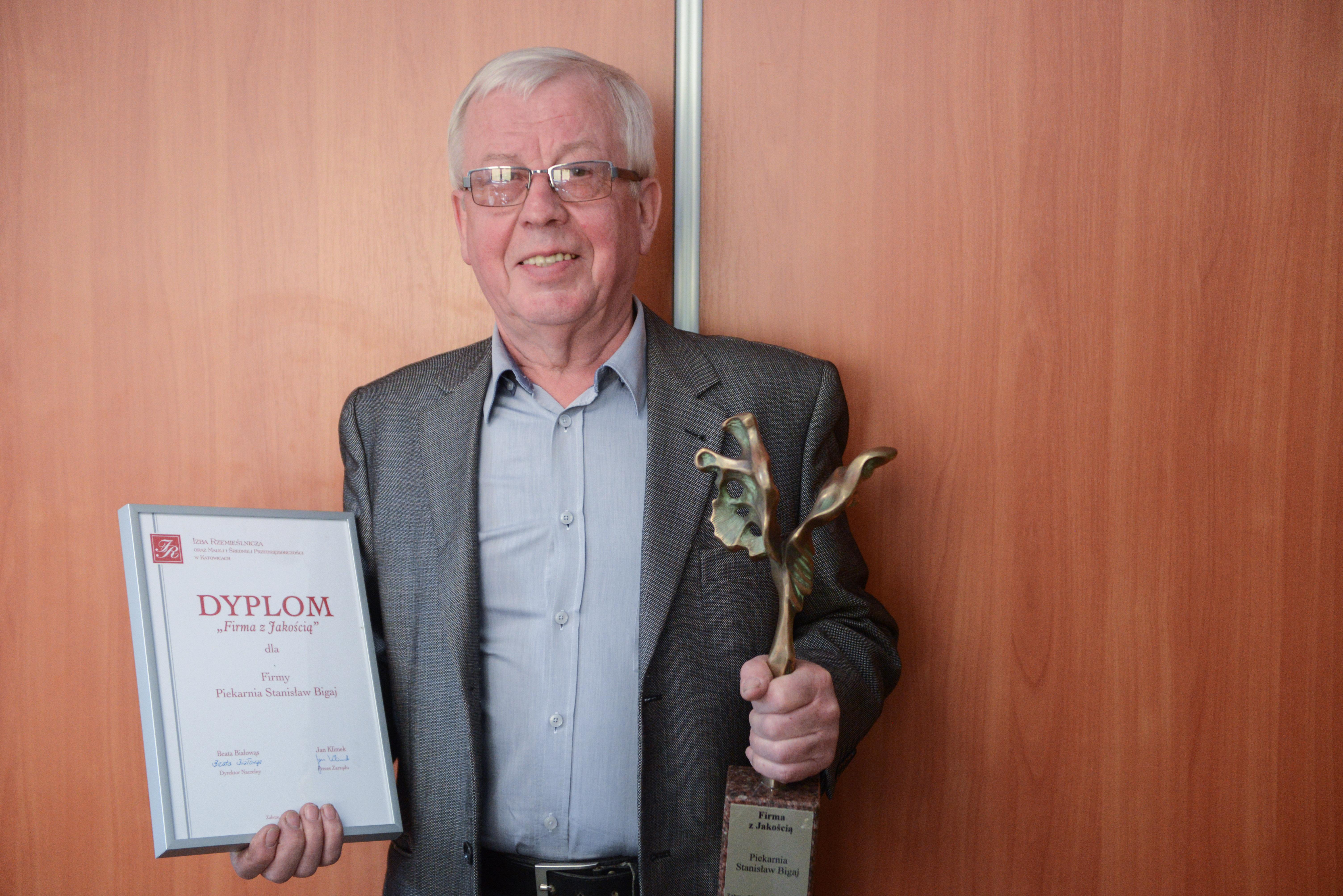 """Stanisław Bigaj z """"Piekarni u Bigaja""""."""