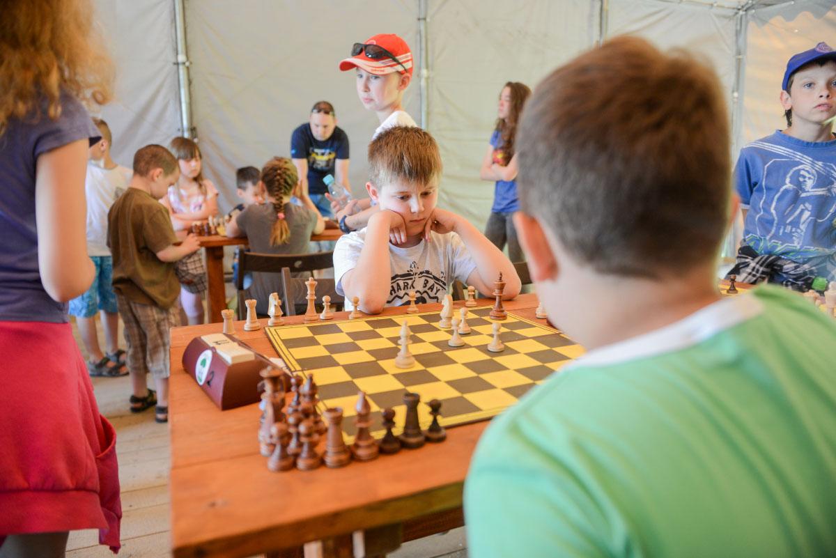 Dzień Dziecka w Geosferze. Zorganizowano turniej szachowy.