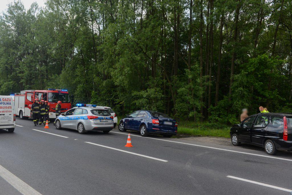 Kolizja trzech samochodów na Martyniaków.