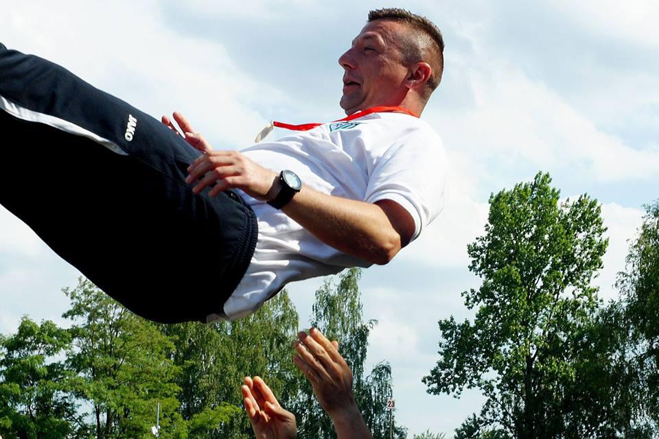 Trener Victorii 1918 Jaworzno Tomasz Kijewski.