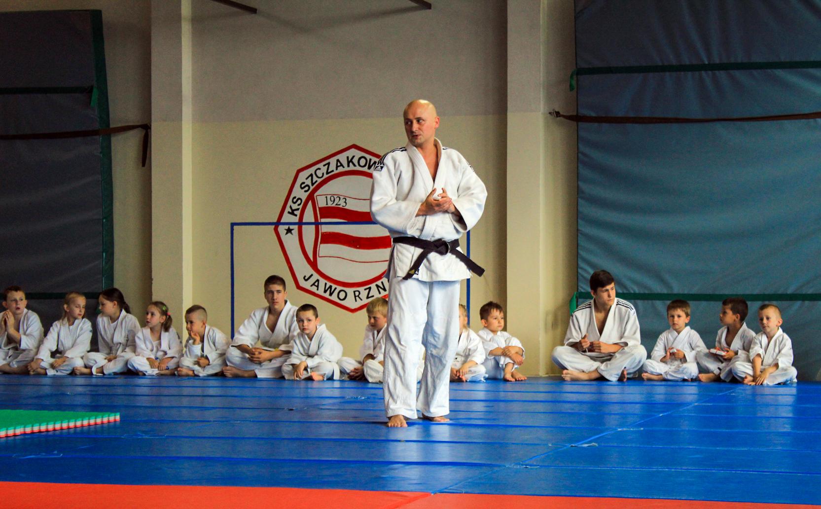 Mistrz Łukasz Proksa z Klubu Sportów Walki Satori Jaworzno.