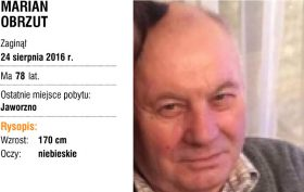 24 sierpnia 2016 r. zaginął Marian Obrzut