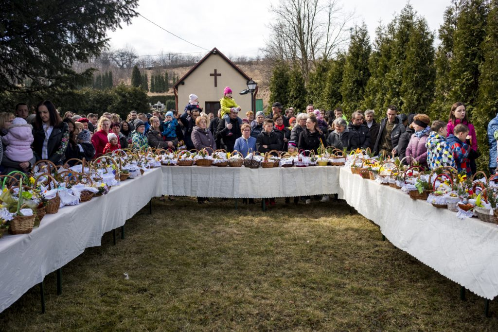 31 marca. Mysłowice. Uroczyste święcenie pokarmów podczas Świąt Wielkanocnych.