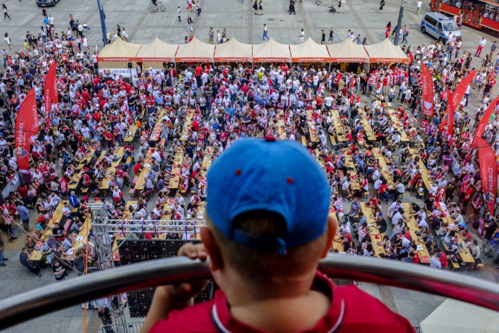 19 czerwca. Katowice. Strefa kibica podczas Mistrzostw Świata w piłce nożnej.