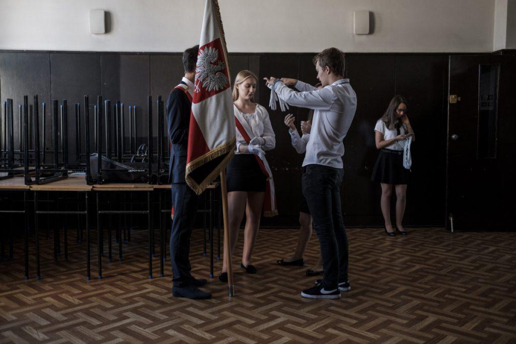 3 września. Katowice. Początek roku szkolnego.
